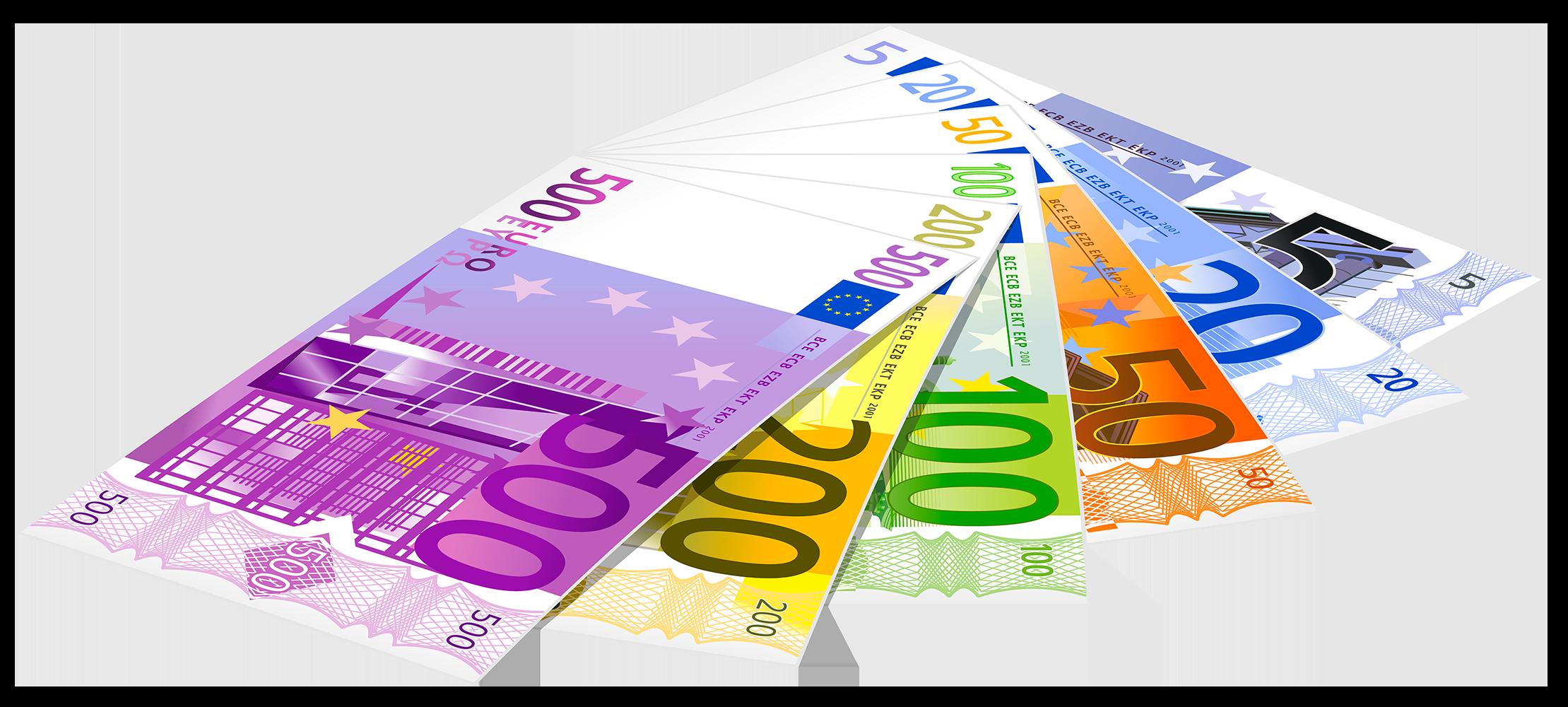 Евро банкноты - финансы, деньги