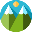 Иконка горы - флэт, горы, гора