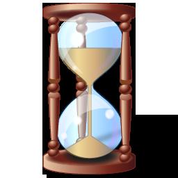 Иконка песочные часы - часы, время