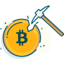 Иконка майнинг - финансы, криптовалюта, деньги, биткоин