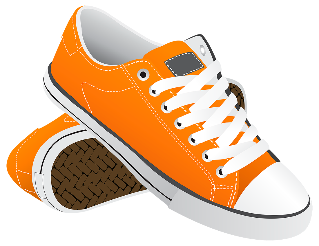 Оранжевые кеды - обувь