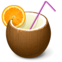 Иконка кокос - кокос