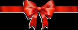 Красная лента с бантом - подарки, лента, бант