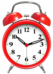 Красный будильник - часы, время, будильник