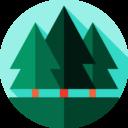 Иконка лес - флэт, лес, деревья
