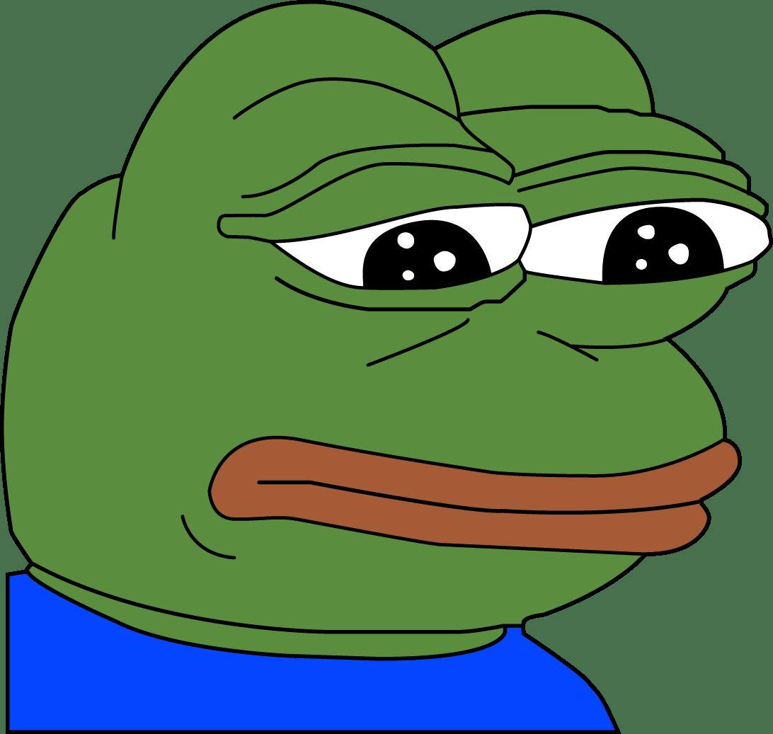 Грустный лягушонок Пепе - мемы, интернет, животные