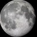 Луна на прозрачном фоне