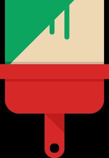 Иконка малярная кисть - краска, кисть