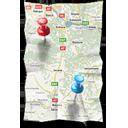Иконка карта - навигация, карта, gps