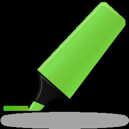 Иконка зеленый маркер - фломастер, маркер