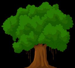 Картинка нарисованное дерево - растения, деревня