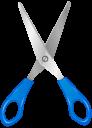 Ножницы на прозрачном фоне