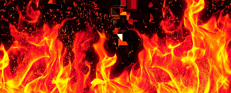 Огонь без фона - пламя, огонь