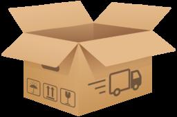 Открытая коробка - упаковка, коробка, доставка