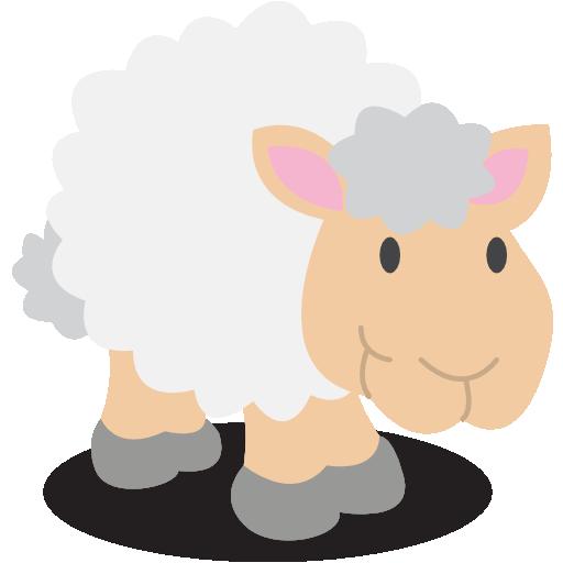 Иконка овечка - овца, овечка