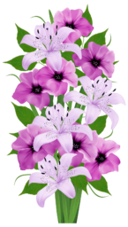 Пурпурный букет - цветы, букет