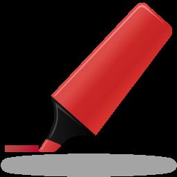Иконка красный маркер - фломастер, маркер