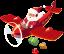 Санта Клаус (Дед Мороз) на самолёте