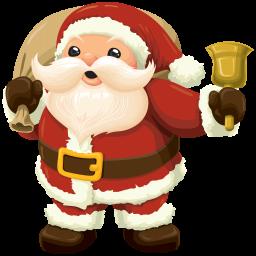 Cанта Клаус с колокольчиком - Санта Клаус, праздники, новый год