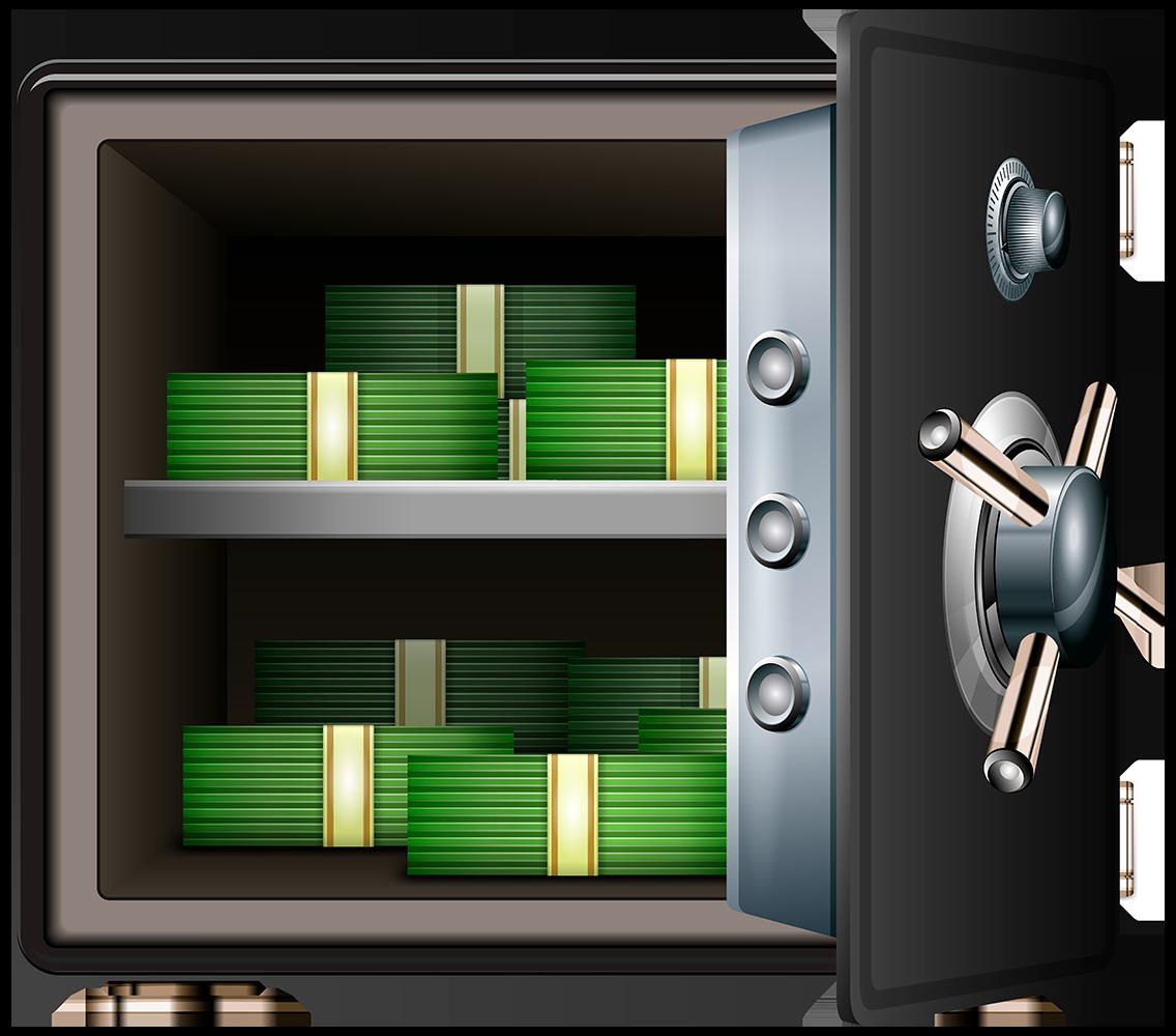 Сейф с деньгами - финансы, сейф, деньги