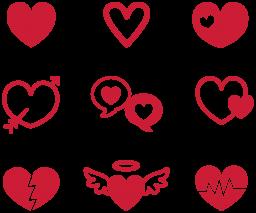 Сердечки - сердце, праздники, любовь, День святого Валентина