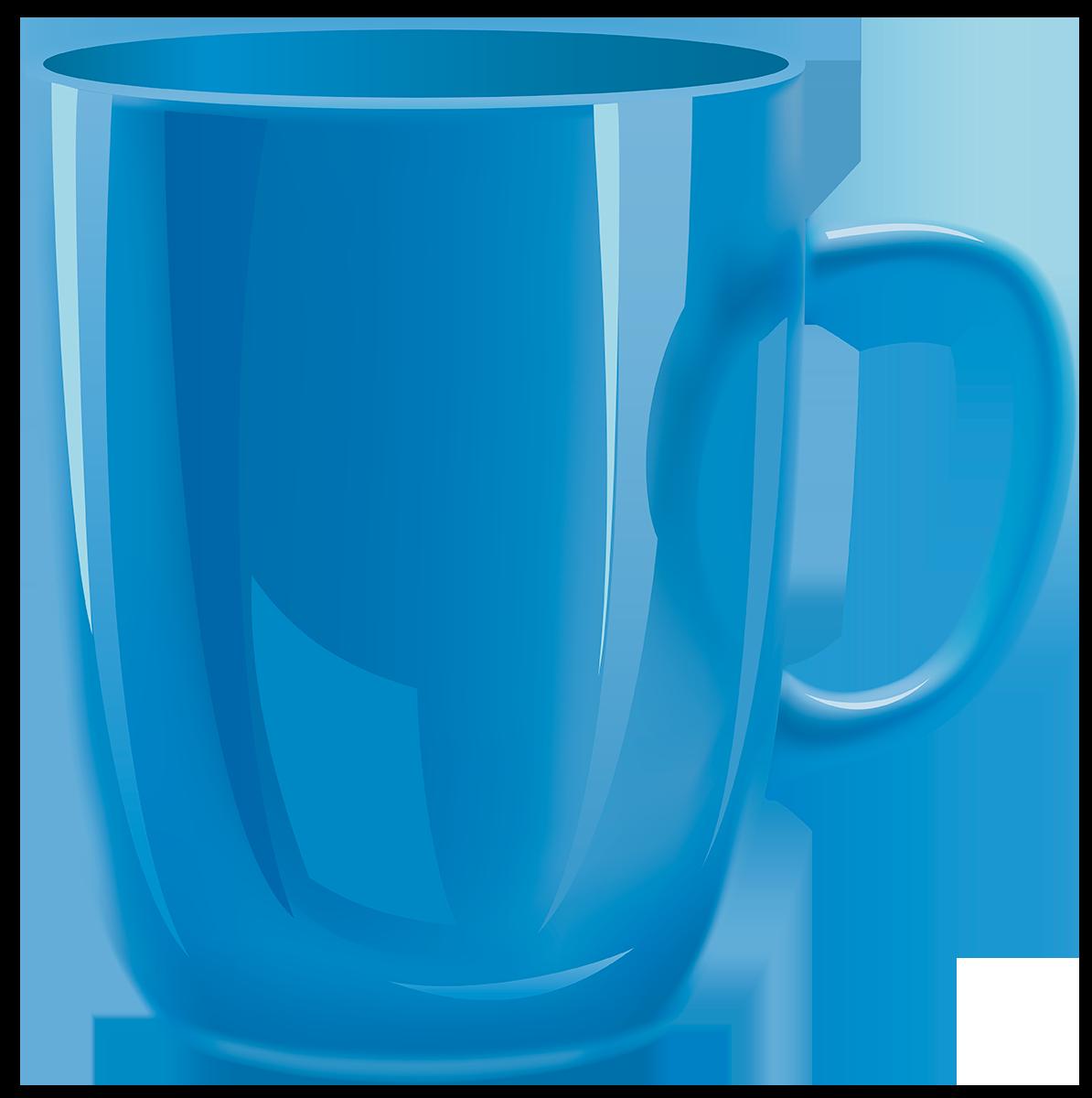 Синяя кружка - посуда, кружка