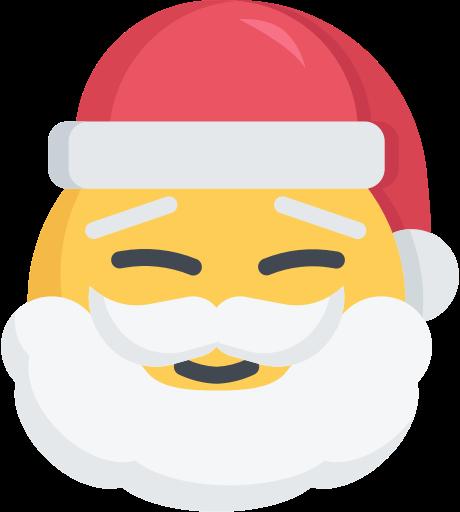 Смайлик дед мороз - смайлы, рождество, праздники, новый год, дед мороз