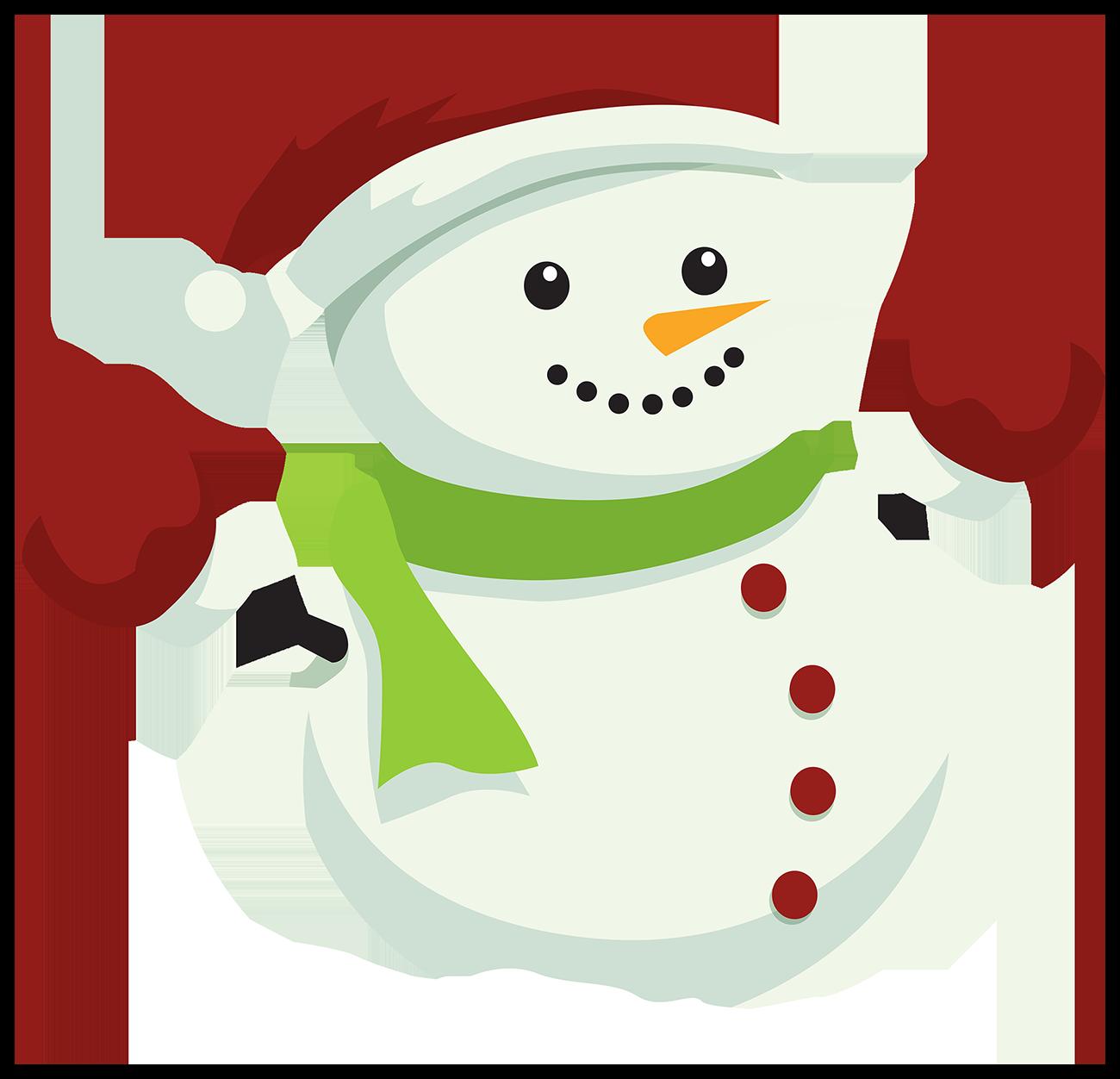 Снеговик - снеговик, новый год