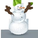 Иконка снеговик - снеговик, новый год, зима