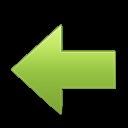 Зеленая стрелка назад - стрелки, навигация