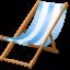 Иконка пляжный стул