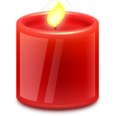 Иконка красная свечка