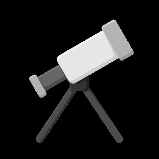 Иконка телескоп - телескоп, образование, наука
