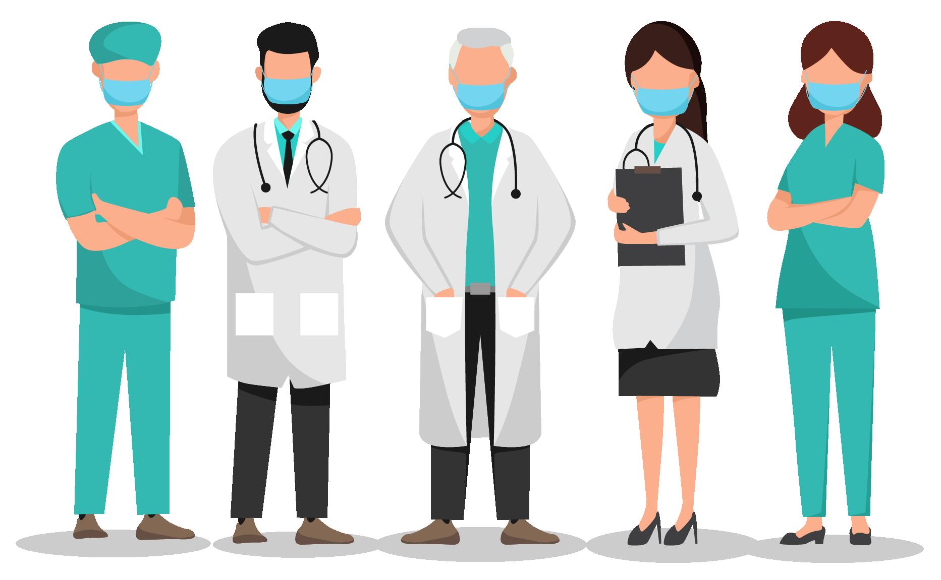 Врачи в масках - медицина, коронавирус, врачи