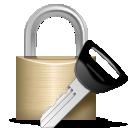 Иконка замок с ключом