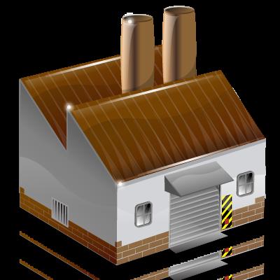 Иконка завод - здание, завод