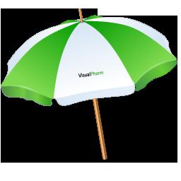 Иконка пляжный зонт - зонтик, зонт